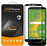 (2 Pack) Supershieldz for Motorola (Moto E5 Supra) Tempered Glass Screen Protector, (Full Screen Coverage) 0.33mm, Anti Scratch, Bubble Free (Black)