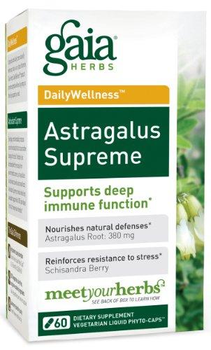 Gaia Herbs Astragalus suprême, 60 capsules liquides phyto-