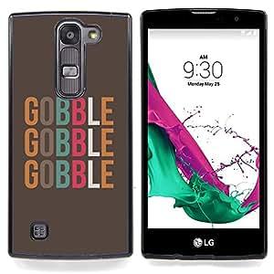 """For LG G4c Curve H522Y ( G4 MINI , NOT FOR LG G4 ) Case , Gobble texto Alimentos minimalista de Brown"""" - Diseño Patrón Teléfono Caso Cubierta Case Bumper Duro Protección Case Cover Funda"""