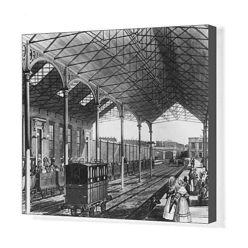 Euston Station - Media Storehouse 20x16 Canvas Print of Euston Station (14441145)