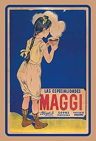 Deko 7 Maggi - Cartel Decorativo (30 x 20 cm), diseño ...