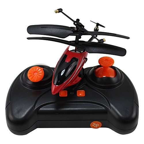 HAOXIN 3.5 Channel Infrared Mini RC Helicopter with Gyro and LED Light for Indoor Outdoor Ready to Fly Remote Control Helicopters Toys Red (Mini Fly Helicopter)