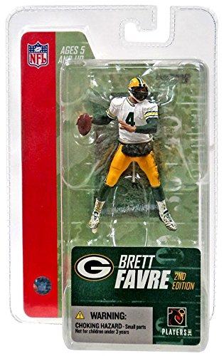 McFarlane Toys NFL 3 Inch Sports Picks Series 3 Mini Action Figure Brett Favre (White Jersey)