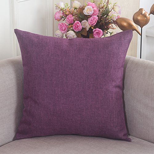 Brilliant Breathable Burlap Cushion Eggplant