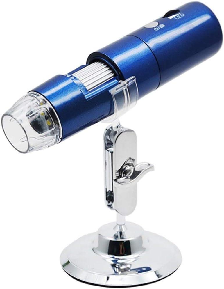 Pandamama Mini Portable 2MP HD Wireless WiFi Digital Microscope 50~1000X 8LED Rotary Base Electronic Microscope Adjustable Brightness