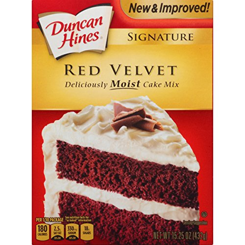 Duncan Hines Signature Cake Mix, Red Velvet, 15.25 Ounce