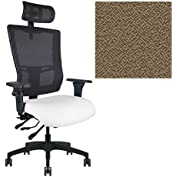 Office Master Affirm Collection AF579 Ergonomic Executive High Back Chair - KR-465 Armrests - Black Mesh Back...