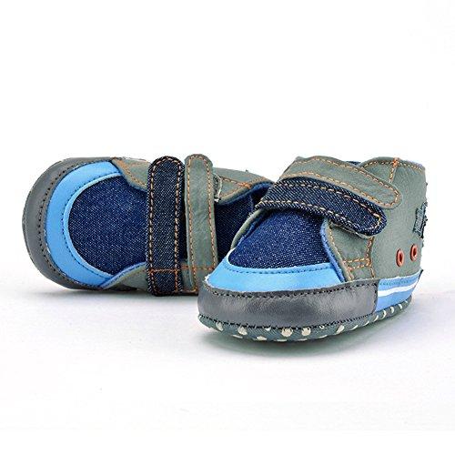 La Cabina Chaussures Bébé Fille garçon -Chaussure Bébé Fille Garçon Premier Pas -Chaussures Souples Confortable - Chaussures Antiglisse pour Hiver Printemps été (0-18 mois ) (6-12 mois)