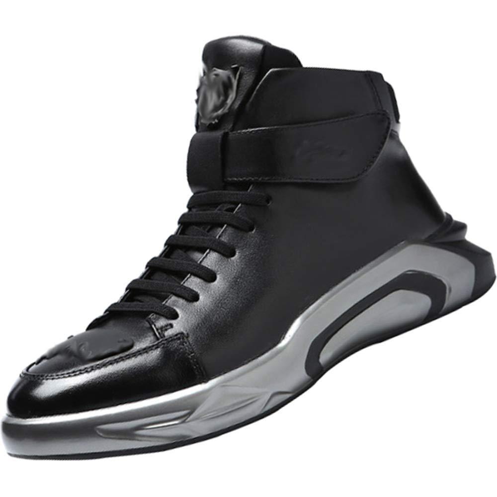 Herren Freizeitschuhe Frühling Und Herbst Mode Wild Turnschuhe Basketball Schuhe (Farbe   Schwarz, Größe   43EU)