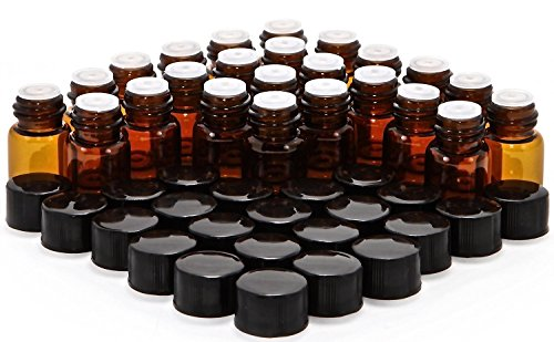1 ml amber glass bottles - 9