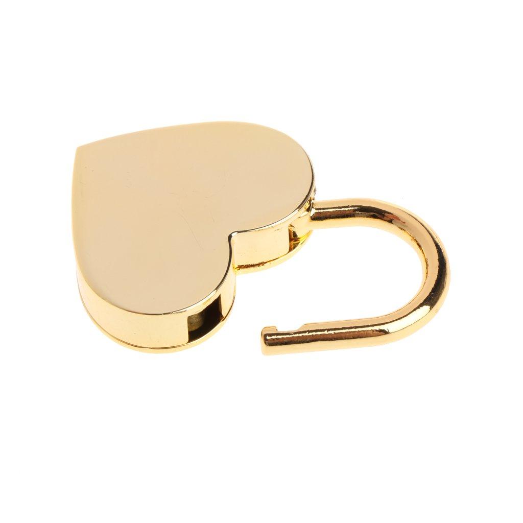 marr/ón MENTIN antigua forma de coraz/ón Mini candado de estilo antiguo Archaize candado con llave