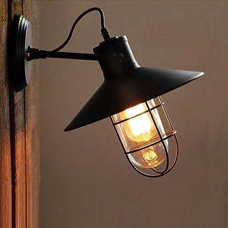 GaLon Aplique de pared vintage, lámpara de pared para jaula de ...
