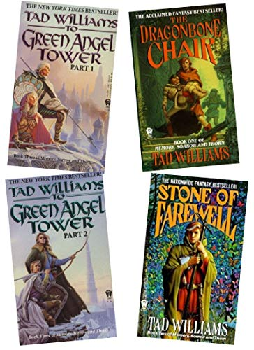 Tad Williams - Complete Set of Memory, Sorrow, and Thorn, Four Books (Memory, Sorrow and Thorn, Volume 1, 2, and 3 (Volume 3, To Green Angel Tower, in two books)) (Tad Williams Memory Sorrow And Thorn Series)