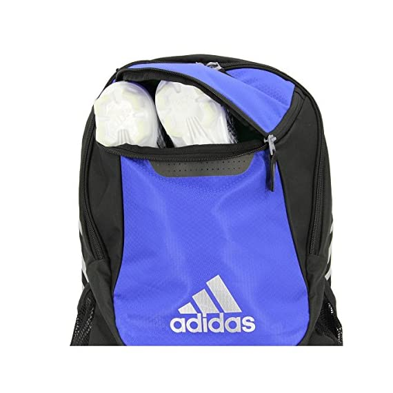 adidas Stadium Team Backpack 4 Lifetime warranty - built to last. Front pocket is built with FreshPAK ventilation for your cleats and sneakers. Hydroshield water-resistant base, extra durable 3d ripstop fabric, and space for your team branding.