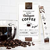 SLIM Collagen Coffee by Dr. Kellyann – 100% Organic Grass-Fed Collagen – Instant Brazilian Coffee Bean – On-The-Go Packets + A Convenient Daily Serving of Collagen. 5 Boxes, 15 Packets Per Box