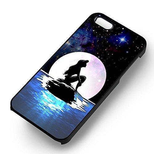 Mermaid Full Moon pour Coque Iphone 6 et Coque Iphone 6s Case (Noir Boîtier en plastique dur) Y5C4WH