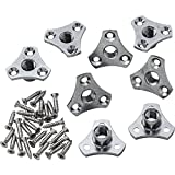 Rockler Screw-On Tee Nuts 3/8-Inch x 16 TPI, 8 Pack
