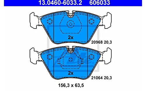 ATE for Disc 6033.2 4x Front Brake Pads: