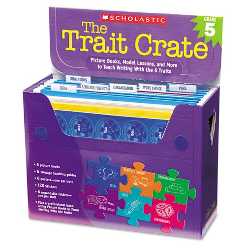 Scholastic : Trait Crate, Grade 5, 7 Books, Posters, Folders, Transparencies, Stickers -:- Sold as 2 Packs of - 1 - / - Total of 2 Each