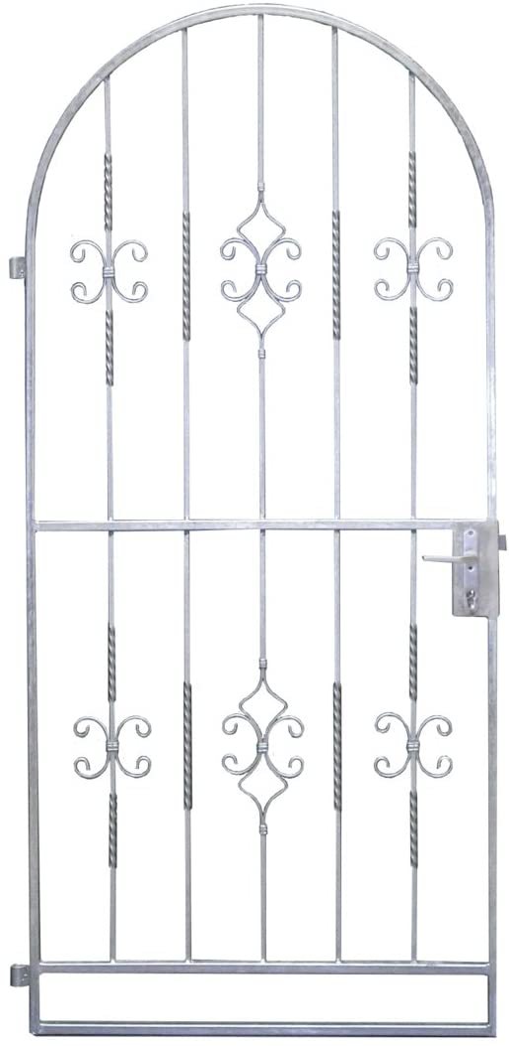 Gartentor Metalltor Ergo 1060 x 2150 x 300 mm Gartentor Komplett-Set Rosenbogen inkl