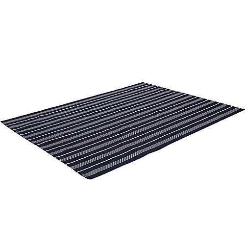 FREELOVE Nordic Blue White Striped Floor Mat/Area Rug, Cotton Thread Weave,Breathable,Table Covers,Sofa Slipcovers,Chair Pads,Wooden Floor Carpet (18'' by 27''(45x70cm))