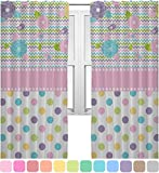 RNK Shops Girly Girl Curtains – 20″x54″ Panels – Unlined (2 Panels Per Set) (Personalized)