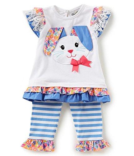 - Rare Editions Spring Easter Bunny Capri Set (2t-6x) (6X)