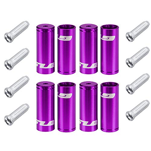 (Forest Byke Company Jagwire Ferrule Housing Kit - 4mm 5mm and Cable Ends Included - Bicycle Brake and Shifter Ferrule Kit (9 Color Options) (Purple))