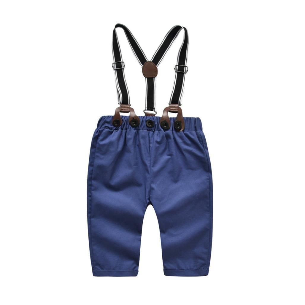 1d31d17c8 Amazon.com: Baby Boys Gentleman Outfits Suits, Infant Long Sleeve Shirt+Bib  Pants+Bow Tie Overalls Clothes Set: Shoes