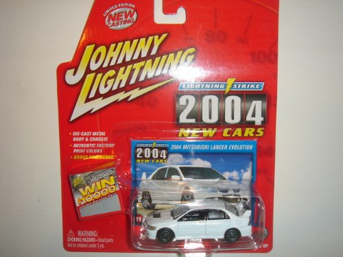 2004 Johnny Lightning Lightning Strike 2004 New Cars 2004 Mitsubishi Lancer Evolution White