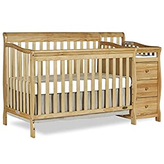 Dream On Me, Brody 5-in-1 Convertible Crib with Changer, Natural