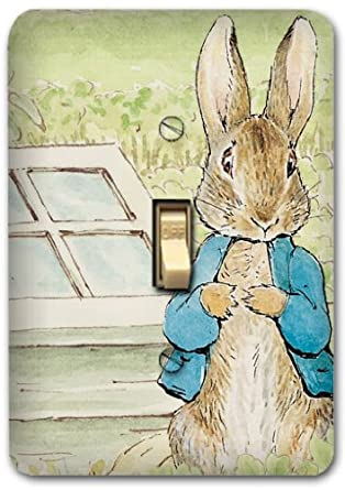 Peter Rabbit Metal Light Switch Plate Cover Benjamin Nursery Home Decor 621