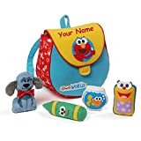 Personalized Sesame Street Elmo's World Playset with Mini Plush Bookbag - 7.5 Inches