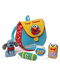 Personalized Sesame Street Elmo's World Playset with Mini Plush Bookbag - 7.5 Inches BOBEBE Online Baby Store From New York to Miami and Los Angeles