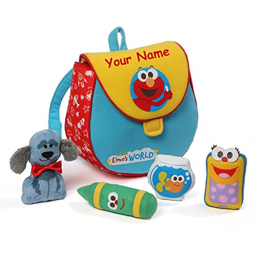 Personalized Sesame Street Elmo's World Playset with Mini Plush Bookbag - 7.5 Inches by GUND (Image #2)