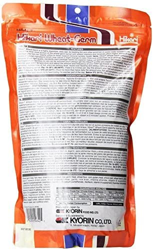 (2 pack) Hikari Wheat Germ Medium Floating Pellets for Koi and Pond Fish, 17.6 ounce