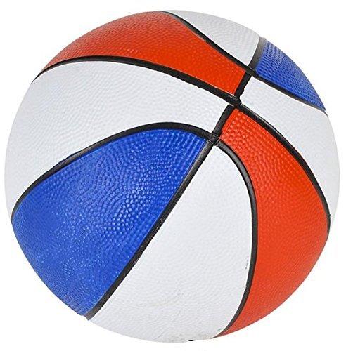 "Rhode Island Novelty B007MAUTF2 7"" Mini Red/White/Blue Basketball (1 Piece per order)"