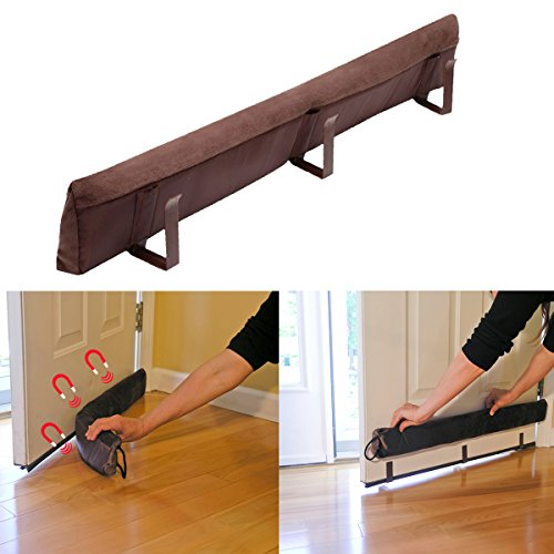 Evelots 36\  Magnetic Clip On Door Draft Stopper Energy Saving Door Seal Brown  sc 1 st  Amazon.com & Door Insulation: Amazon.com