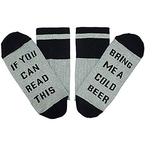 Men's Cotton Funny Crew Socks Novelty Funky Cute Beer Party Hosiery Gift for Women … -