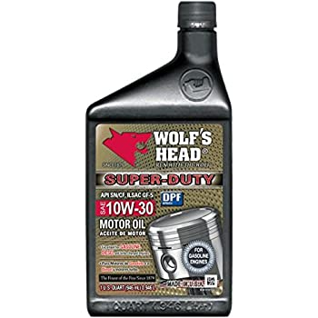 Wolfs Head Super Duty Motor Oil 10W-30-12QT case