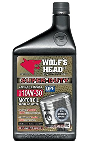 Wolf's Head Super Duty Motor Oil 10W-30 - 12QT case