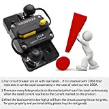 ANJOSHI 300Amp Circuit Breaker 50A-300A with Manual Reset Switch Waterproof Fuse Holder Inline Fuse Breaker for Trolling Motor Auto Car Marine Boat Bike Stereo Audio System Protection