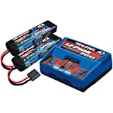 2S Battery/Charger Combo: (2) 7.4V 7600mAh LiPo Battery, (1) EZ-Peak Dual ID Charger