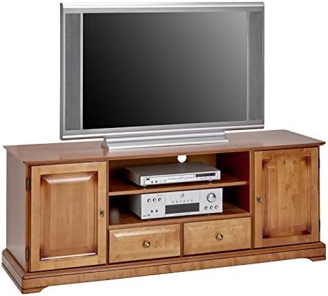 Beaux Meubles Pas Chers Mueble para TV, de cerezo americano, 2 puertas, 2 cajones: Amazon.es: Hogar