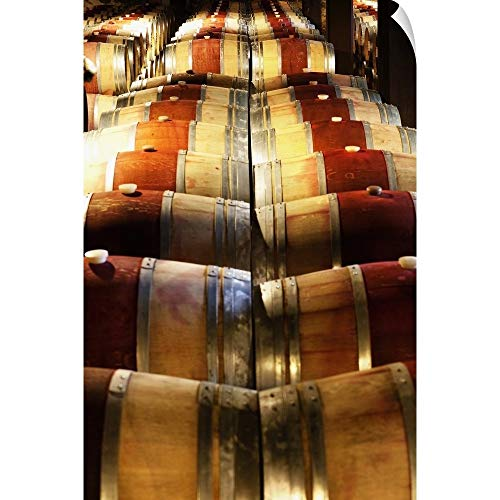CANVAS ON DEMAND California, Napa Valley, Barrel Room at The Hess Collection Winery Wall Peel Art Print, 12