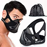 coher Training Mask Workout Breathing Mask for Men and Women – Adjustable Resistance Levels – Increase Lung Capacity and Endurance – Ideal for Jogging, Sports, Cycling, Fitness