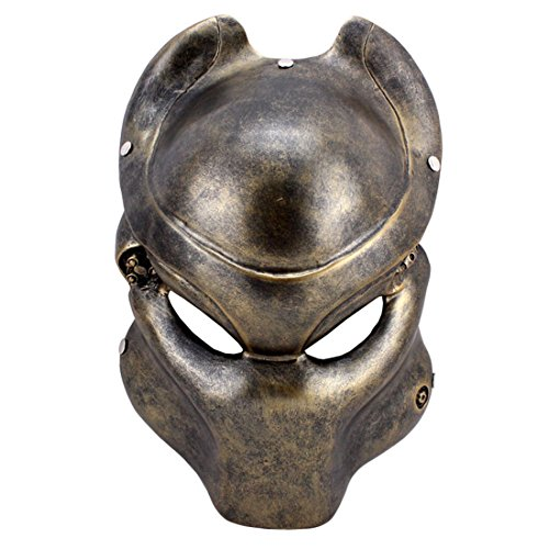 Resin Movie Mask Alien VS Predator Costume Decoration Props,Collection Mask,Cosplay Halloween, Party, Gift,Family Gathering Mask (Prop Mask Predator)