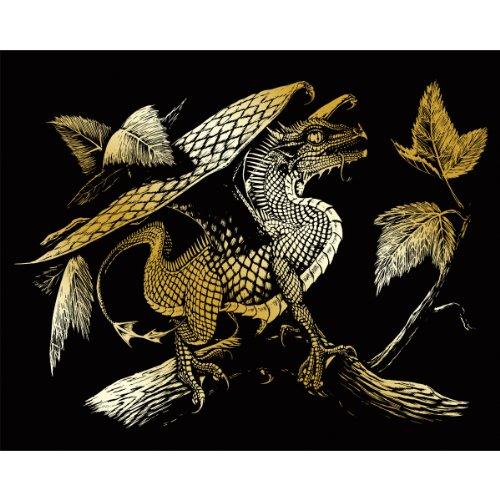 ROYAL BRUSH GOLDFL-28 Foil Engraving Art Kit, 8 by 10-Inch, Baby Dragon