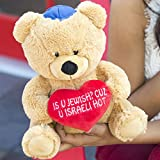 "Hollabears 10"" Is U Jewish? Cuz U Israeli Hot Teddy Bear Plush"