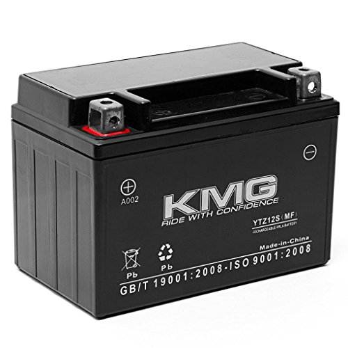 KMG Honda NSS250 Reflex 2001-2009 Replacement Battery YTZ12S Sealed Maintenace Free Battery High Performance 12V SMF OEM Replacement Maintenance Free Powersport Motorcycle Scooter